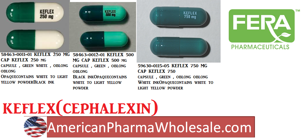 Keflex 250mg Cap 100 by Fera  Pharma