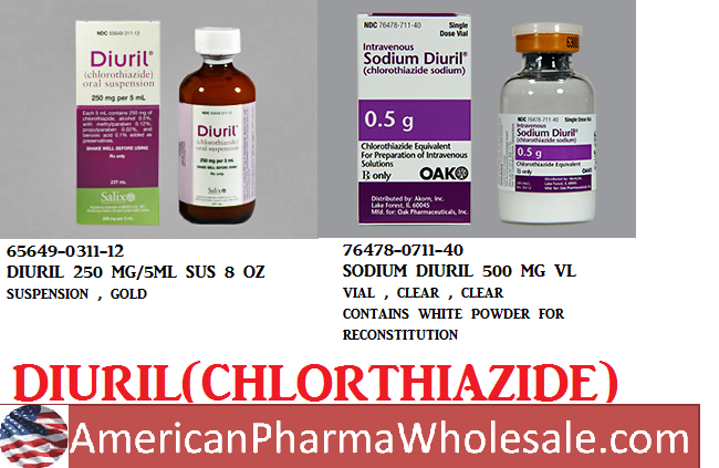 Diuril 250mg/5ml Sus 8 oz by Valeant Pharma