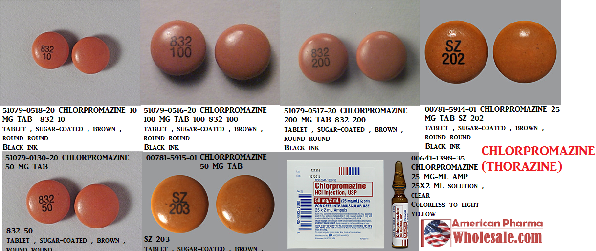 Rx Item-Chlorpromazine 100mg Tab 100 By Mylan Institutional