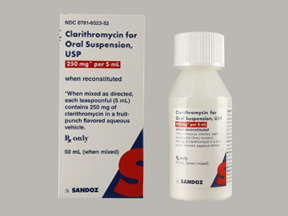 RX ITEM-Clarithromycin 250Mg/5Ml Suspension 50Ml By Sandoz Pharma Gen Biaxin
