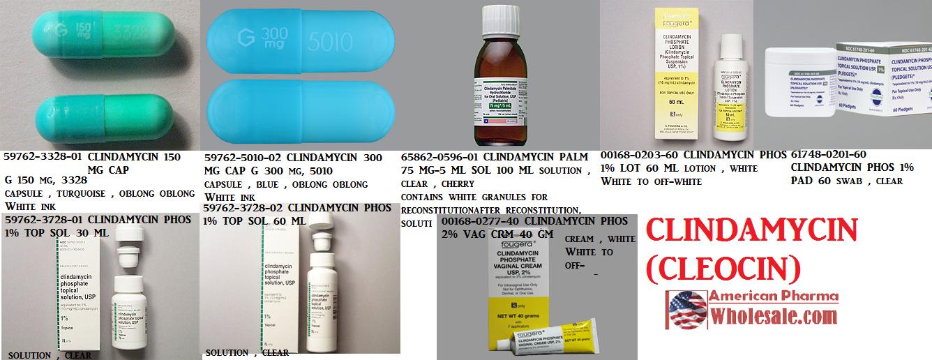 '.Cleocin 150Mg Cap 100 By Pfizer Pharma.'