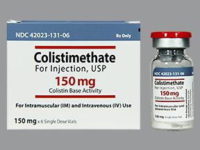 RX ITEM-Colistimethate 150Mg Vial 6X10Ml By JHP Pharma