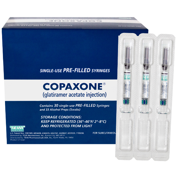 Copaxone 20mg/ml Syg 30X1 ml by Teva Pharma Refrigerated