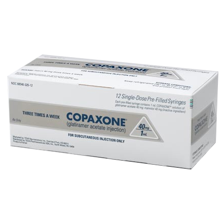 Copaxone 40mg/ml Syg 12X1ml by Teva Pharma Refrigerated