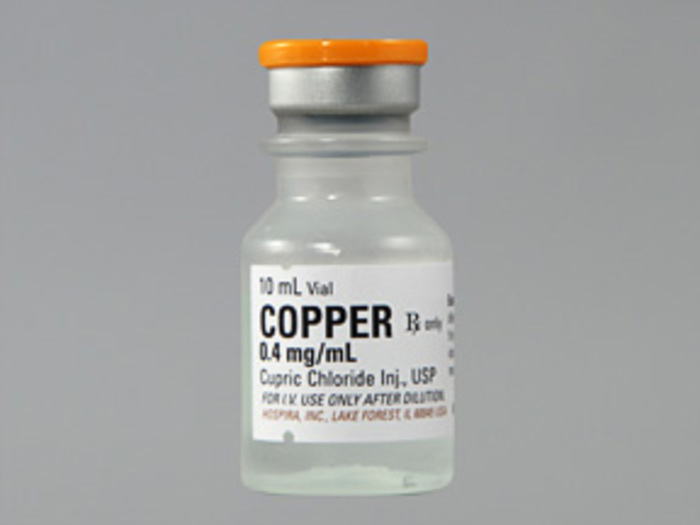 RX ITEM-Copper Trace 0.4Mg/Ml Vial 25X10Ml By Hospira Worldwide Cupric Chloride