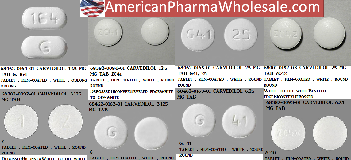 Carvedilol 12.5mg Tab 100 by Bluepoint Labs