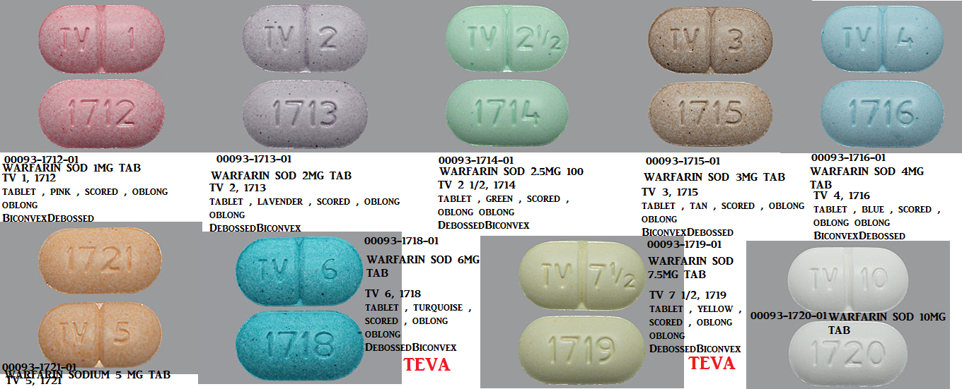 RX ITEM-Warfarin 4Mg Tab 1000 By Teva Pharma
