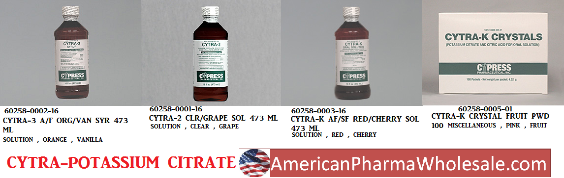 RX ITEM-Potassium Citrate-Sodium Citrate Generic Cytra-3 Solution By Method Phar