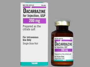 RX ITEM-Dacarbazine 200Mg Vial By Teva Pharma Refrigerated