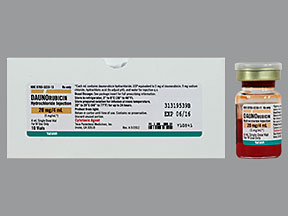 Daunorubicin 5mg/ml Vial 10X4ml by Teva Pharma Refrigerated