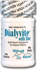 RX ITEM-Dialyvite® Rx With Zinc Multi-Vitamin Tab 100 By Hillestad Pharmactcls U