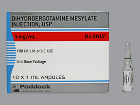 RX ITEM-Dihydroergotamine 1Mg/Ml Amp 10X1Ml By Perrigo Pharma