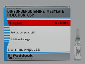 RX ITEM-Dihydroergotamine 1Mg/Ml Amp 5X1Ml By Perrigo Pharma