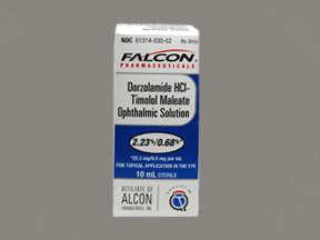 Rx Item-Dorzolamide-Timolol 22.3 6.8 1 Drops 10ml By Sandoz Falcon Pharma