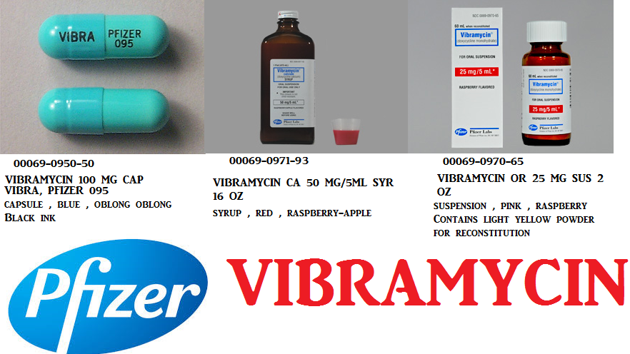 RX ITEM-Vibramycin Ca 50Mg/5Ml Syrup 16 Oz By Pfizer Pharma