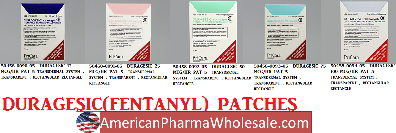 Rx Item-Duragesic 100 mcg-Hr Patch 5 By J-O-M Pharma-Narc