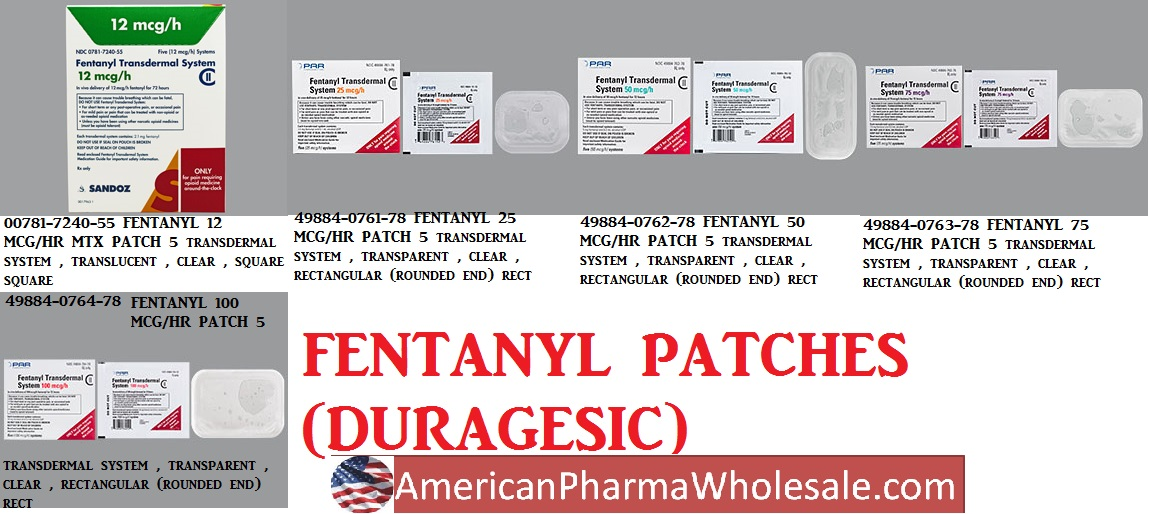 Rx Item-Fentanyl 100 mcg-Hr Patch 5 By Par Pharma-Narc Ny