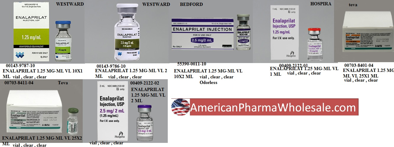 RX ITEM-Enalaprilat 1.25Mg/Ml Vial 1Ml By Hospira Worldwide