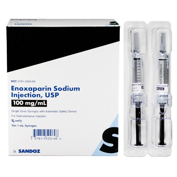 Enoxaparin 100mg/ml Syg 10 by Sandoz Pharma