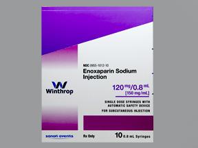 Enoxaparin 120mg .8ml Syg 10 by Winthrop Us D B A Sanofi Avent