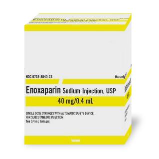Enoxaparin 40mg 0.4ml Syg 10 by Teva Pharma