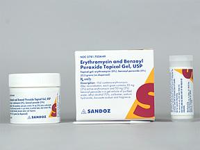 RX ITEM-Erythromycin-Benzoyl Peroxide 3% 5% Gel 23.3Gm Gen Benzamycin
