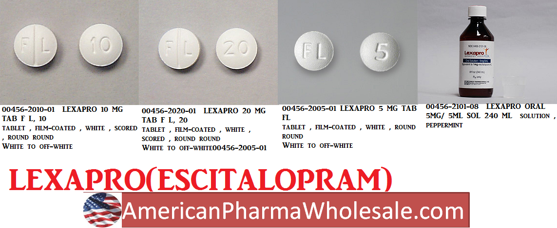 Lexapro 10mg Tab 100 by Actavis Pharma