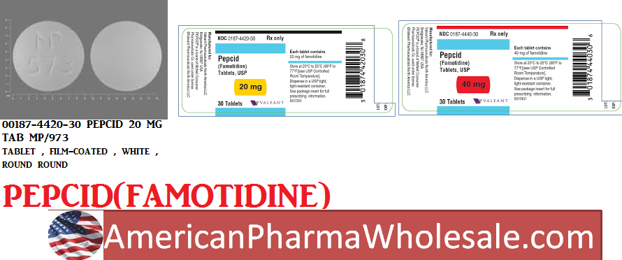 Famotidine 10mg/ml Vial 10X4ml by Mylan Institutional