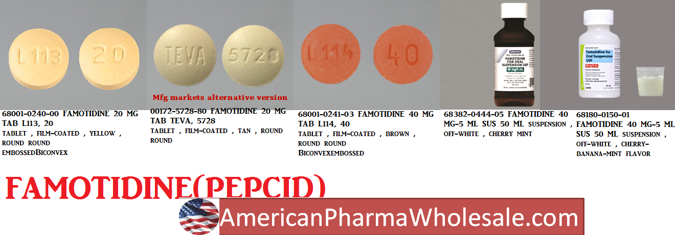 RX ITEM-Famotidine 40Mg TAB 100 BY BLUEPOINT PHARMA