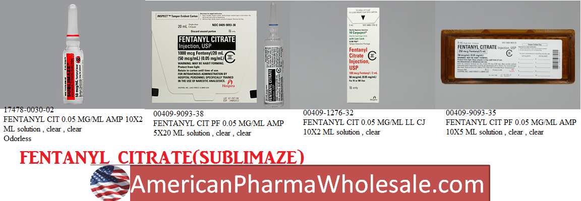 Fentanyl Citrate  100% Pwd 0.5gm by Harvard Drug Group-Ds