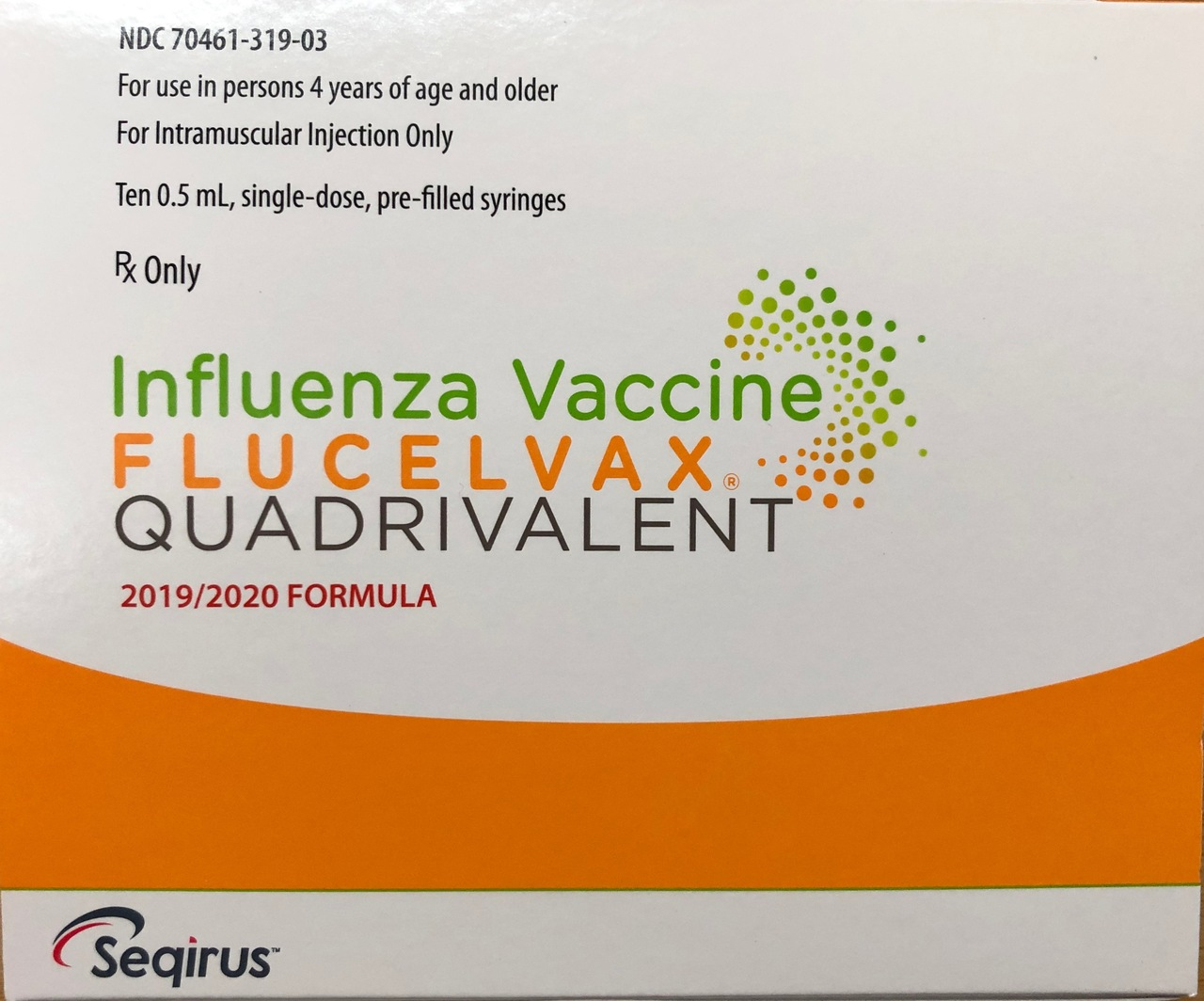 RX ITEM-Flucelvax Seqirus Quad In Pfs 10/Pk .5Ml Syringe 10 For 2019-20 BY SEQUI