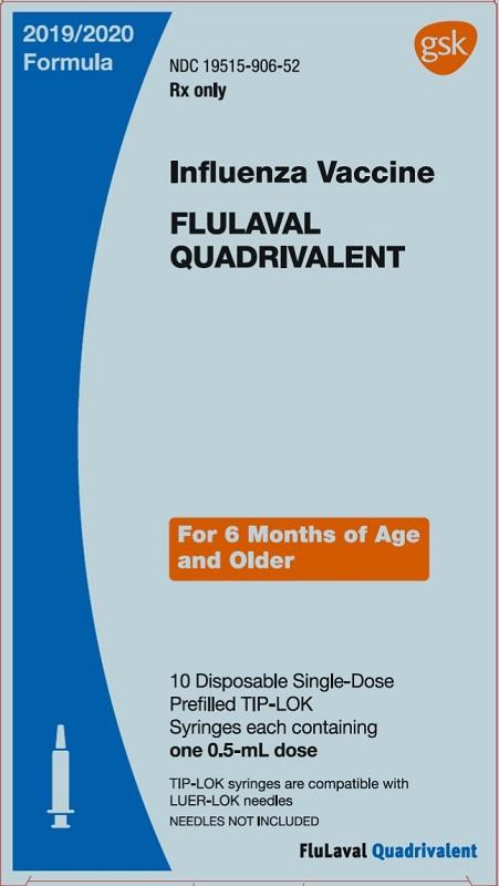 FLULAVAL QUAD SY10X0.5ML 2019-20 PF by Glaxosmithkline Rx