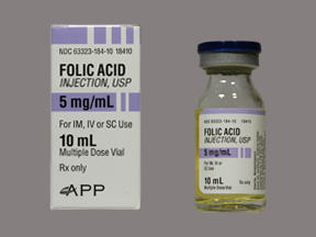 Rx Item-Folic Acid 5Mg/ml Vial 10ml By Fresenius Kabi USA