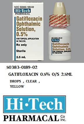 RX ITEM-Gatifloxacin 0.5% Drops 2.5Ml By Akorn Pharma