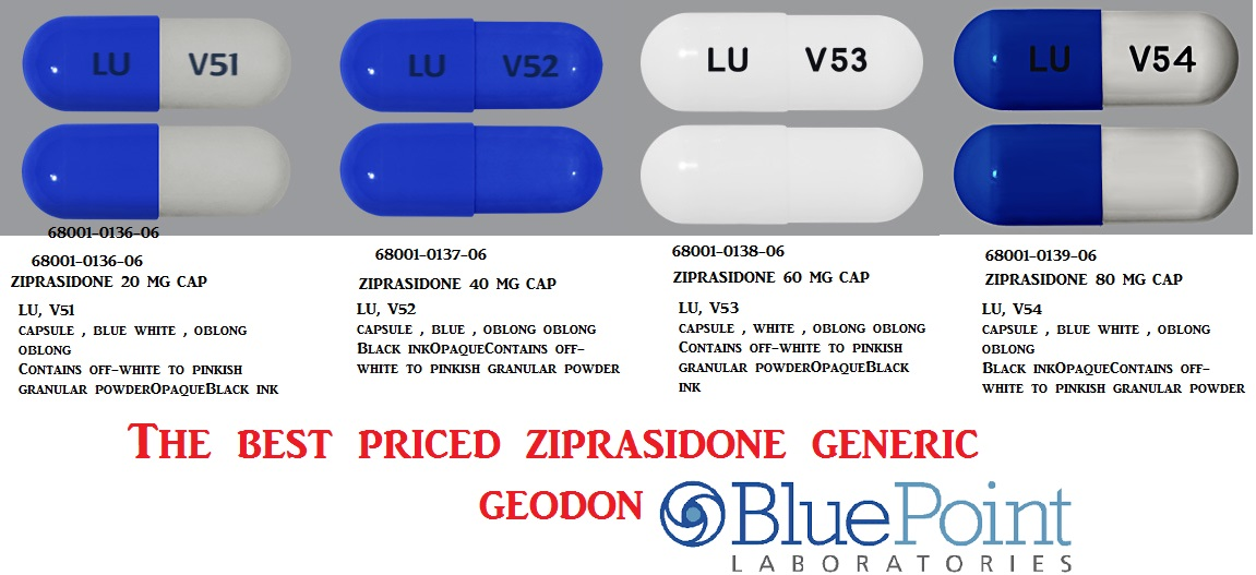 Ziprasidone 40mg Cap 60 by Aurobindo Pharma 1/19