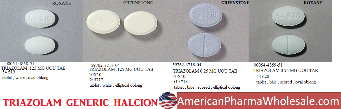 '.Halcion 0.25Mg Tab 10 By Pfizer Pharma.'