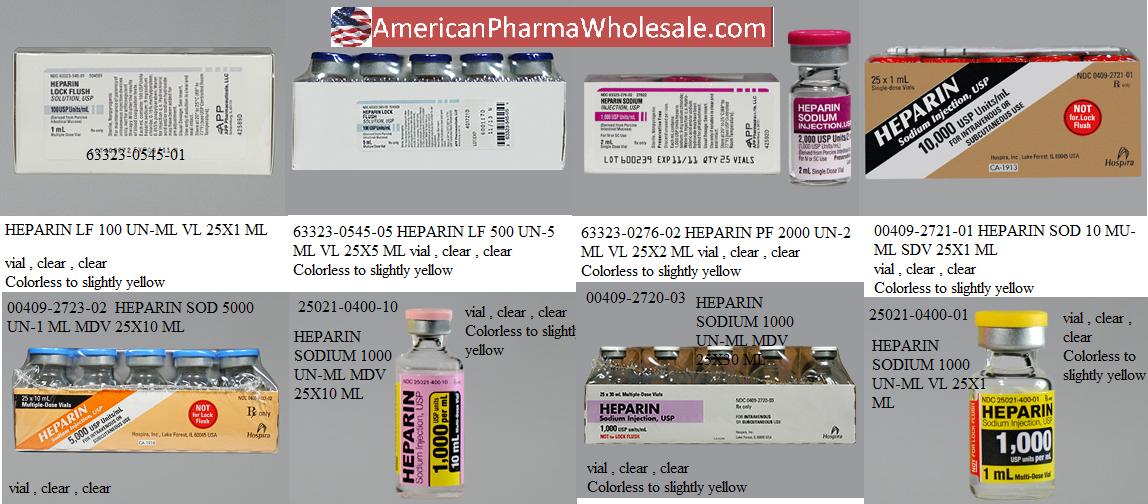Rx Item-Heparin 10000/ml PPX Vial 25X1ml By Mylan Pharma