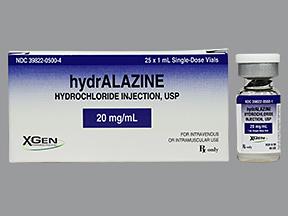 RX ITEM-Hydralazine 20Mg/Ml Vial 25X1Ml By X Gen Pharma