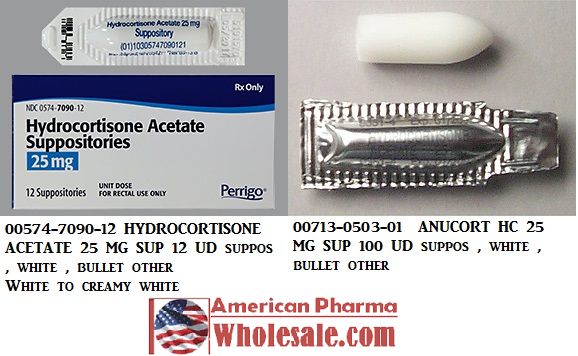 RX ITEM-Hydrocortisone Acetate 25Mg Suppository 12 By Perrigo Pharma