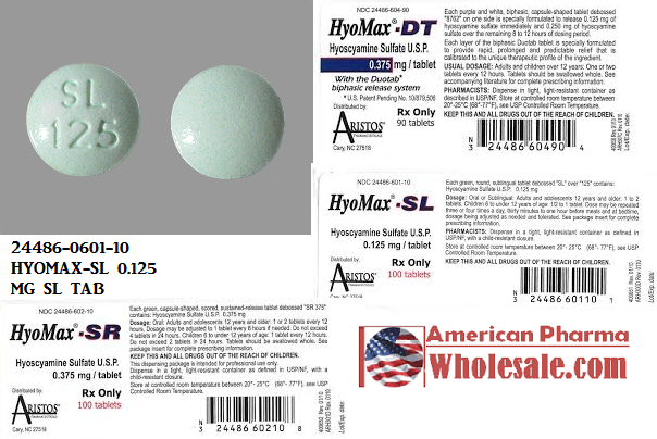 RX ITEM-Hyomax Ft 0.125Mg Tab 100 By Aristos Pharma