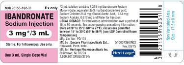 RX ITEM-Ibandronate 3Ml By Heritage Pharma
