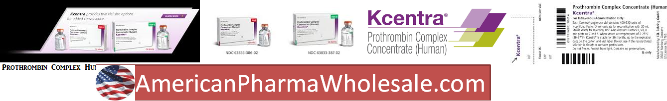 Rx Item-Kcentra 1047 Unit Single Dose Vial By Csl Behring ASD Healthcare