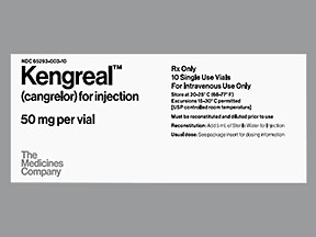 Kengreal 50mg Vial 10 by Medicines Co.(Chiesi Pharma)