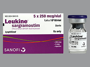 RX ITEM-Leukine 250Mcg Vial 5X1Ml By Partner Therapeutics
