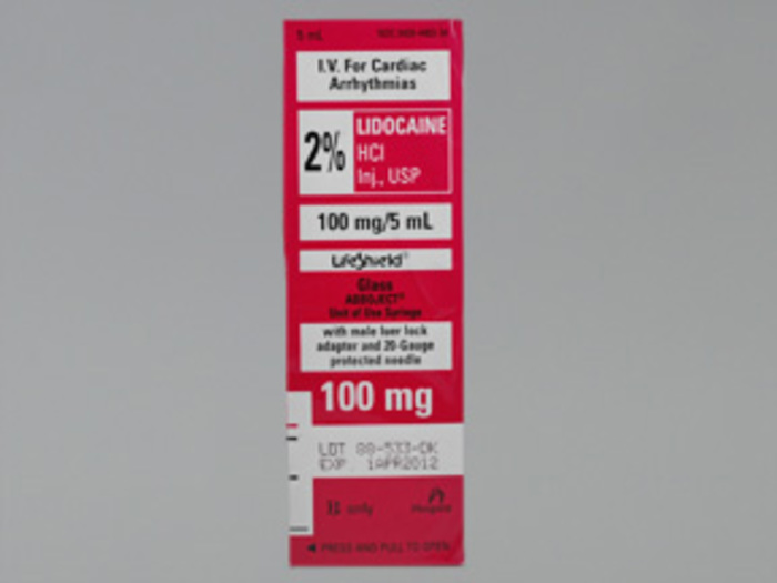 Lidocaine 100mg/5ml  2% Syg 10X5ml by Hospira Cardiac