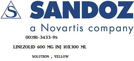 Linezolid 600mg Inj 10X300 ml by Sandoz