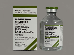 Magnesium Chloride 200mg/ml 20% Vial 50ml by American Regent Lab