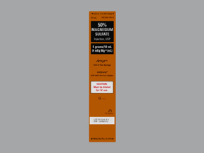 RX ITEM-Magnesium Sulfate Ans 4 Meq/Ml Syringe 10X10Ml By Hospira Worldwide