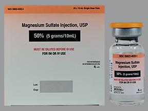 RX ITEM-Magnesium Sulfate 500Mg/Ml 4 Meq/Ml Vial 25X10Ml By X Gen Pharma