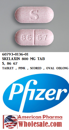 Rx Item-Skelaxin 800mg Tab 100 By Pfizer Pharma